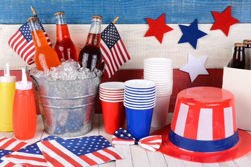 美国独立纪念日静物画 图库摄影