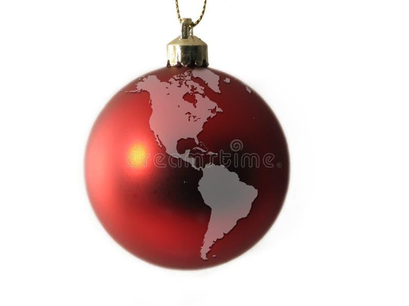 美国球圣诞节地球世界 免版税库存图片