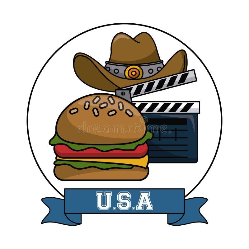 美国电影和娱乐 库存例证