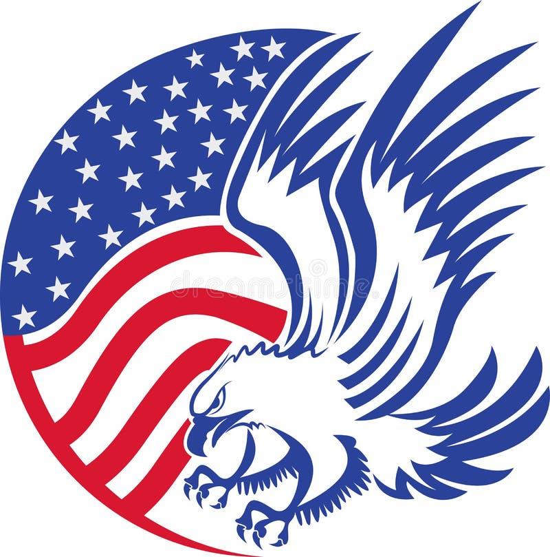 美国白头鹰 皇族释放例证