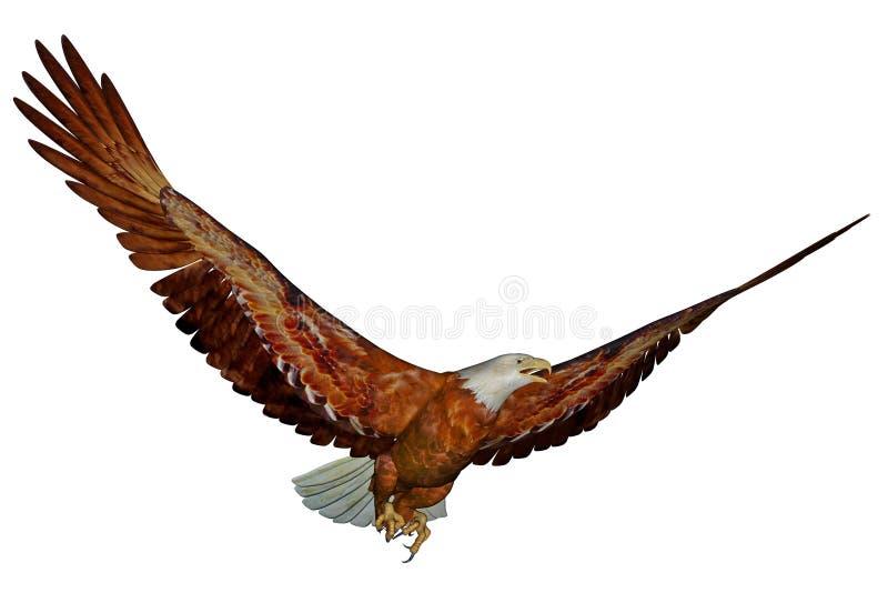 美国白头鹰- 3D回报 皇族释放例证