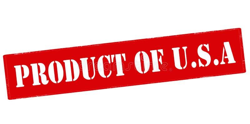 美国的产品 库存例证