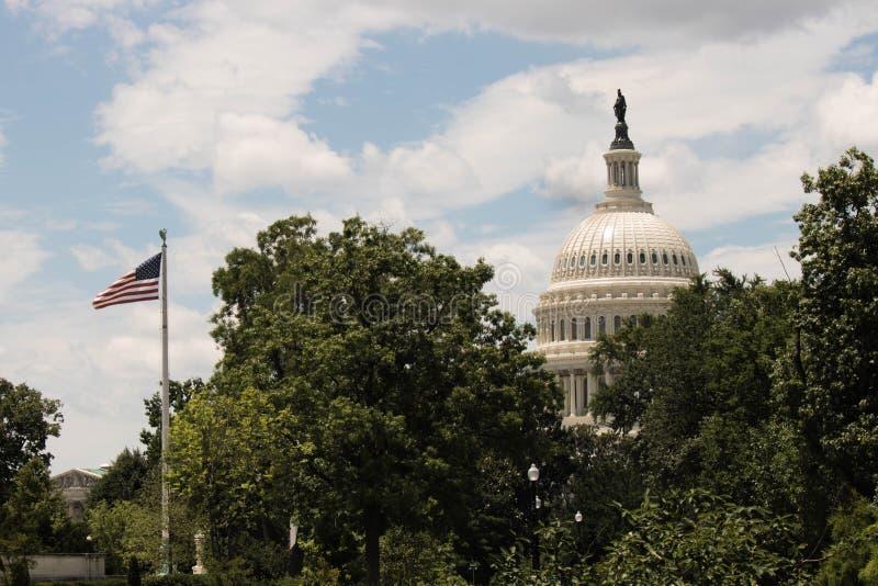 美国的国会大厦 免版税库存图片