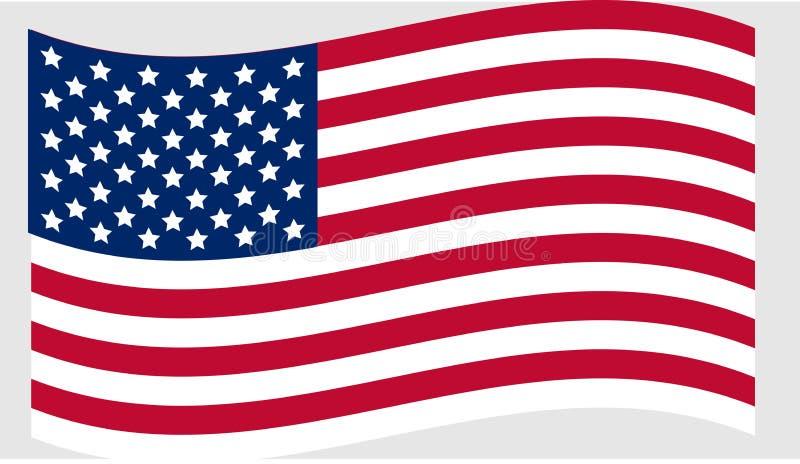 美国的国旗团结的状态 皇族释放例证