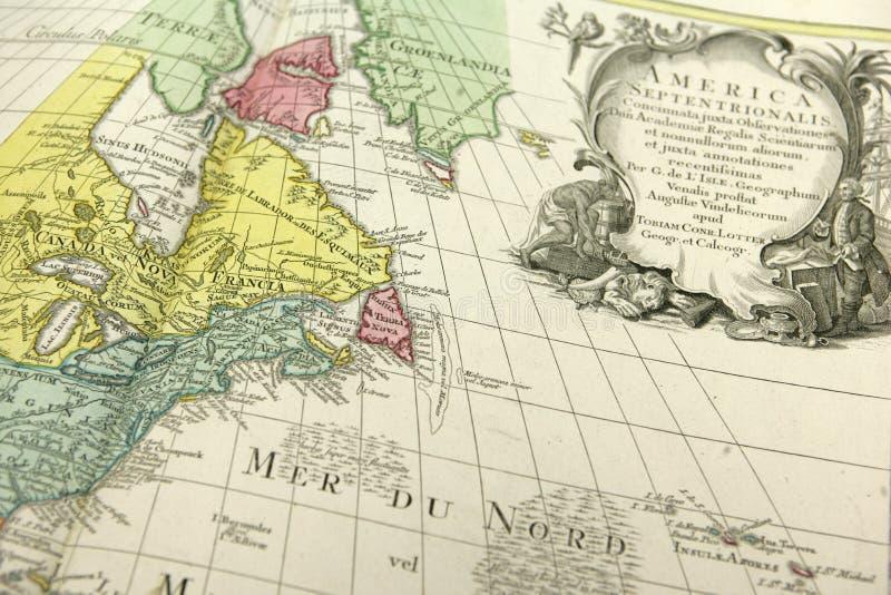美国的地图有老边界的 库存照片
