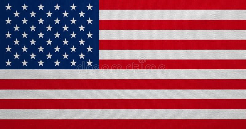 美国的旗子,真正的详细的织品纹理,非常大大小 库存照片