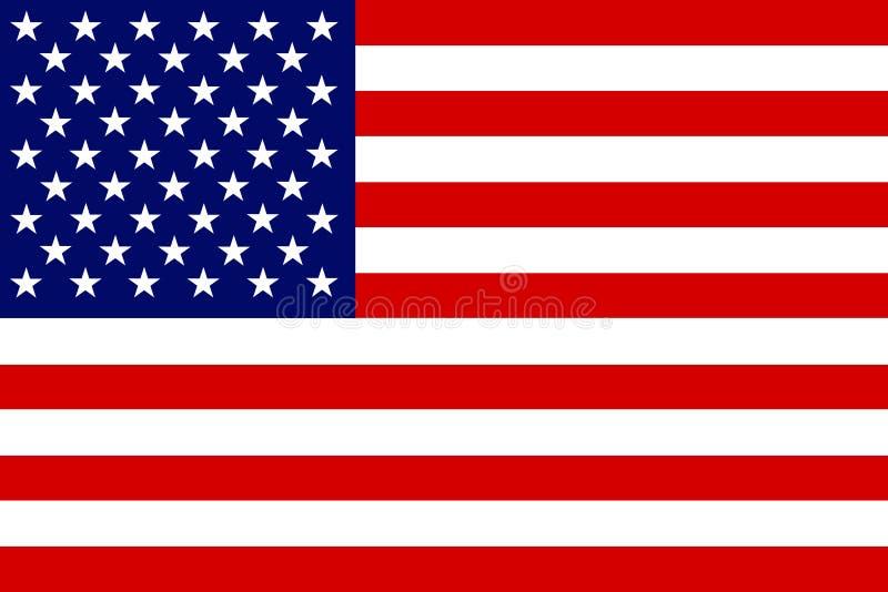 美国的旗子 向量例证