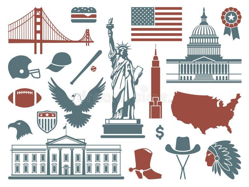 美国的标志 库存例证