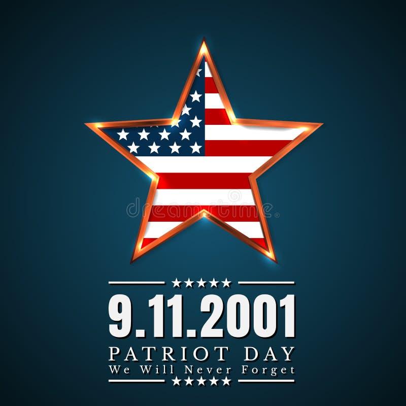 美国的爱国者天有星的在国旗上色美国国旗 库存例证