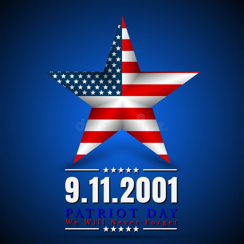 美国的爱国者天有星的在国旗上色美国国旗 向量例证