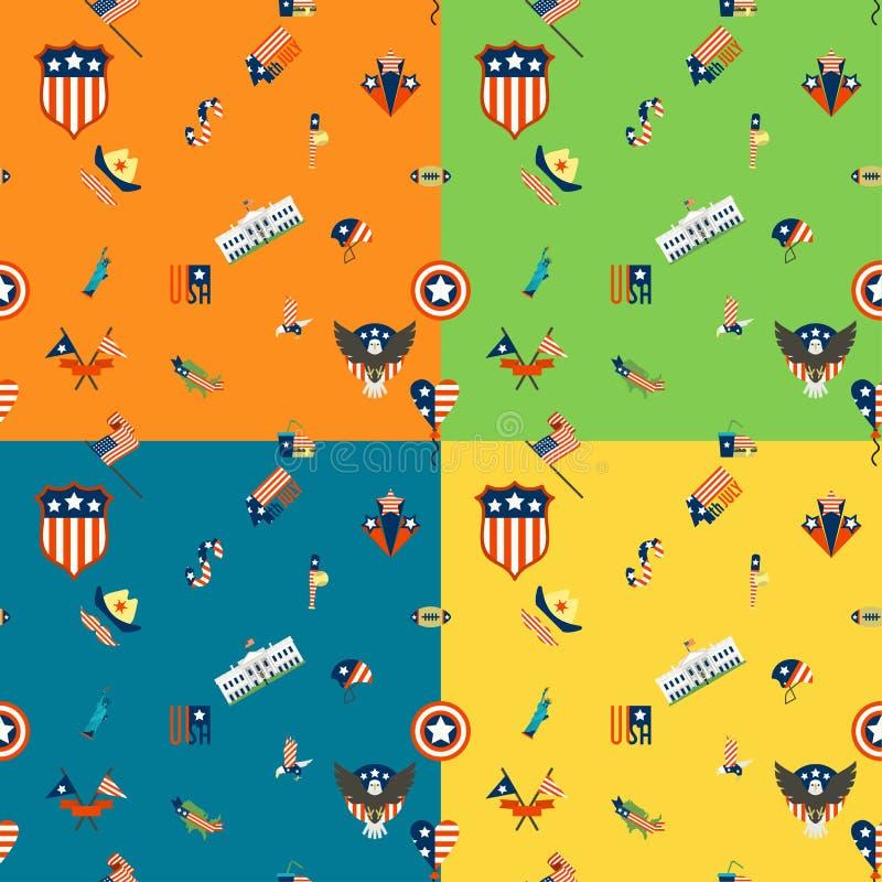 Download 美国的独立日 向量例证. 插画 包括有 老鹰, 汉堡包, 演奏台, 烟花, 蓝色, 橄榄球, 美元, 国家 - 59108464