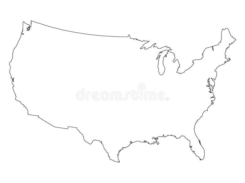 美国的白色地图 皇族释放例证
