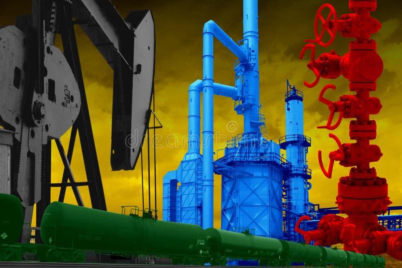 美国石油工业 免版税图库摄影