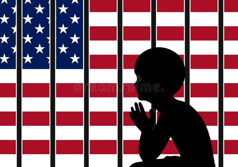 美国移民政策 库存例证