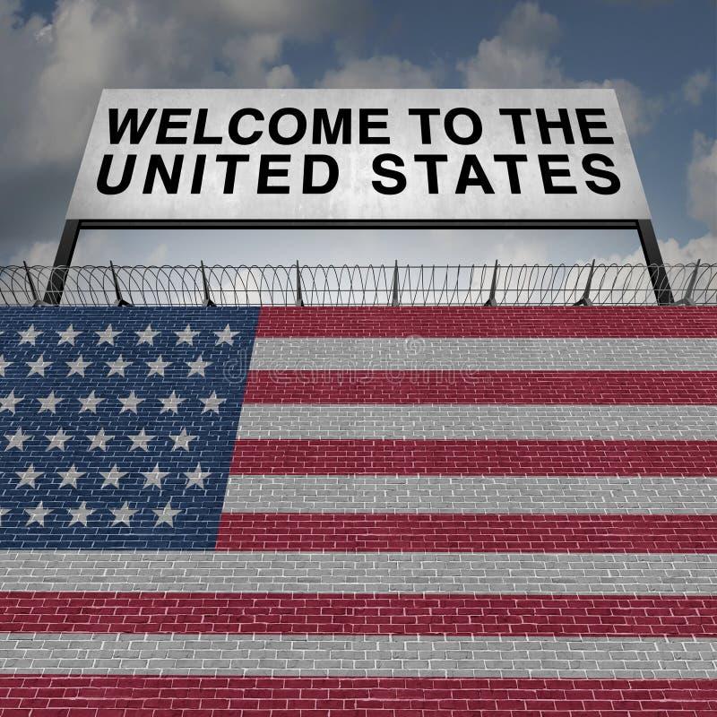 美国移民 库存例证