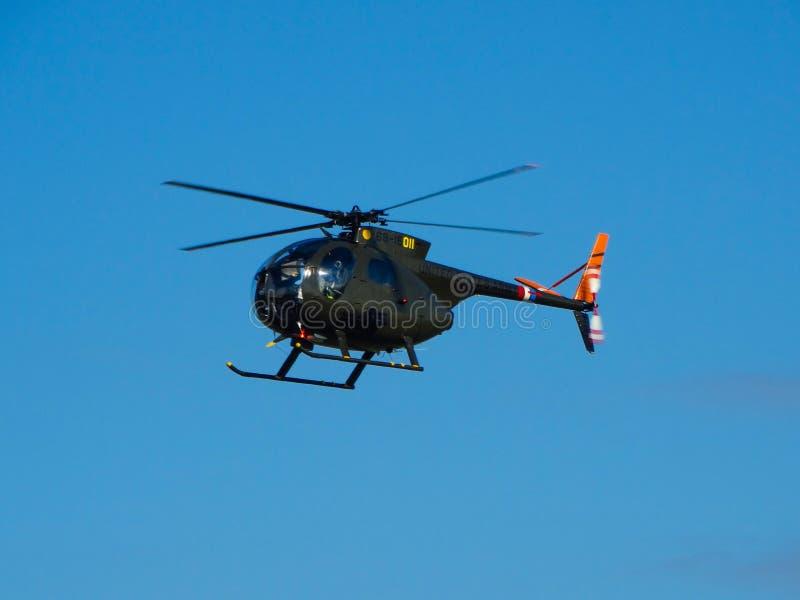 美国空军休斯OH-6印第安种的小马 库存图片