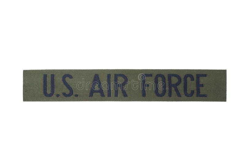美国空军制服徽章 免版税库存照片
