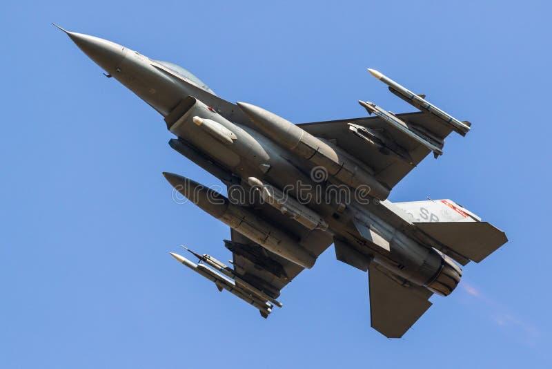 美国空军队从480th战斗中队的F-16战斗机飞机 库存图片
