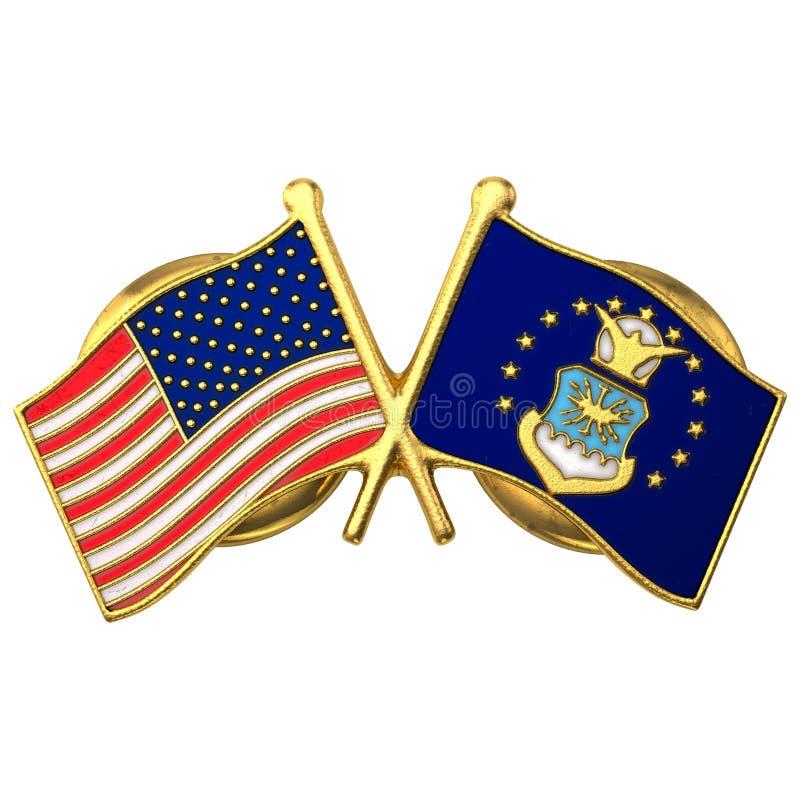 美国空军队旗子Pin 3d模型 免版税图库摄影