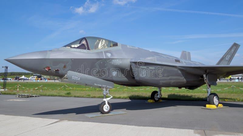 美国空军队洛克西德・马丁F-35喷气式歼击机 图库摄影