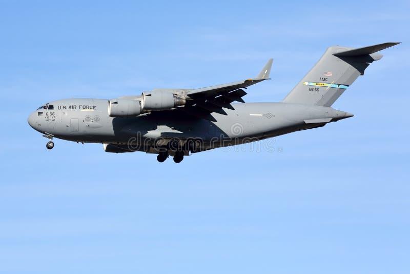 美国空军队运输航空器 库存图片
