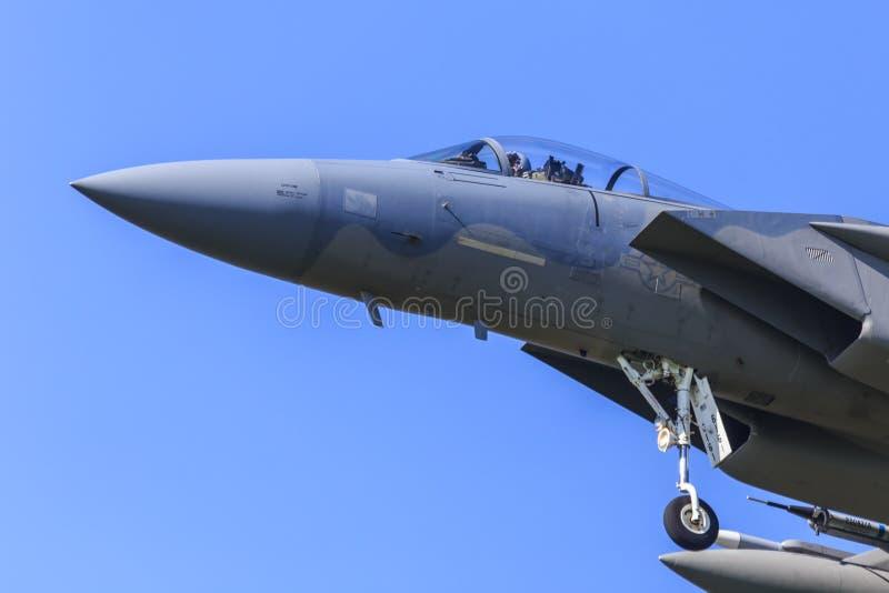 美国空军队F15 免版税库存图片
