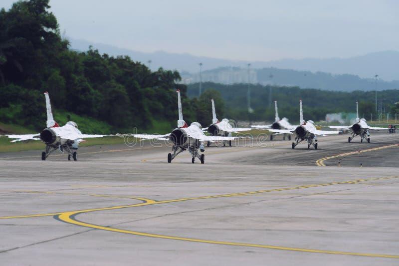 美国空军雷鸟喷气机, F-16C猎鹰 库存照片