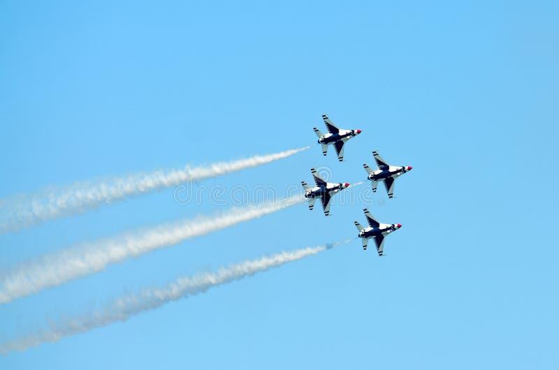 美国空军雷鸟菱形队形 免版税图库摄影