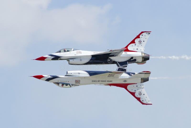 美国空军雷鸟 免版税库存图片