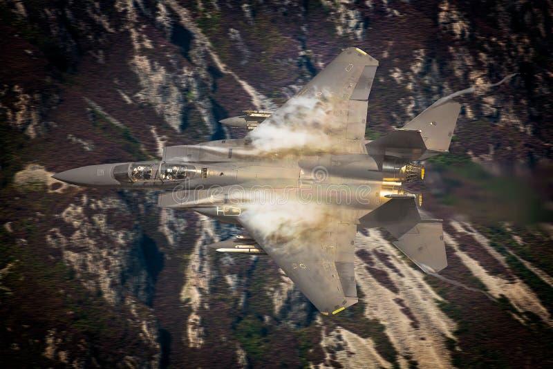美国空军F15喷气式歼击机 免版税库存照片