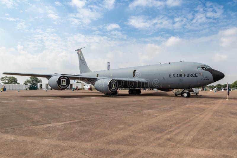 美国空军KC-135 Stratotanker罐车飞机 免版税库存图片