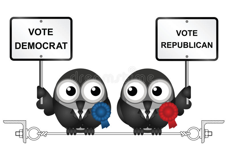 美国竞选 库存例证