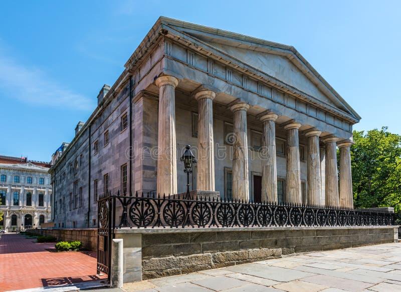 美国第二银行在费城 库存照片
