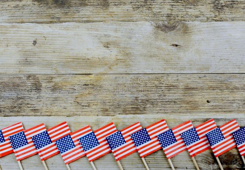 美国红、白、蓝星和条纹 免版税库存照片