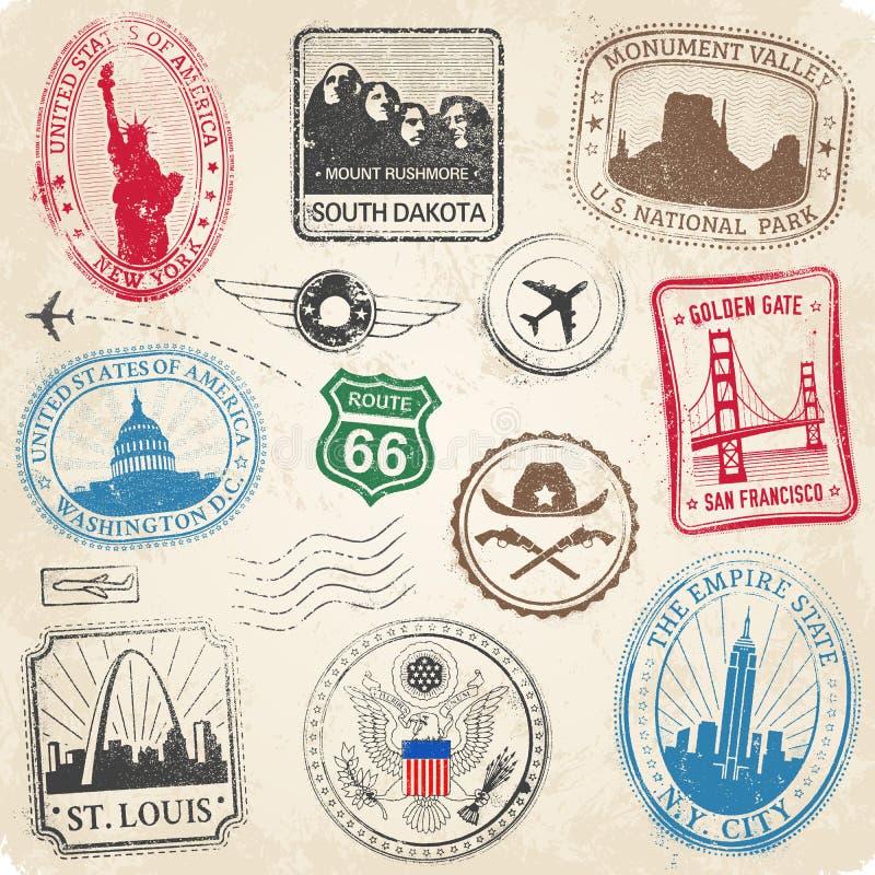 美国纪念碑难看的东西邮票 皇族释放例证