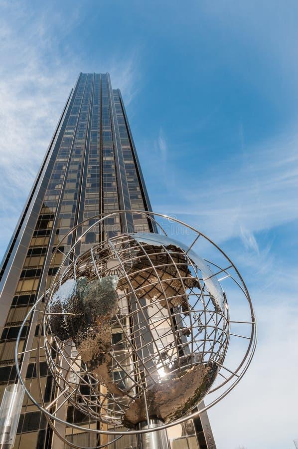 美国纽约哥伦布圆圈 库存图片