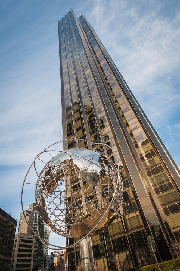 美国纽约哥伦布圆圈 免版税库存图片