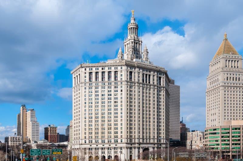 美国纽约市政厅大楼 库存照片
