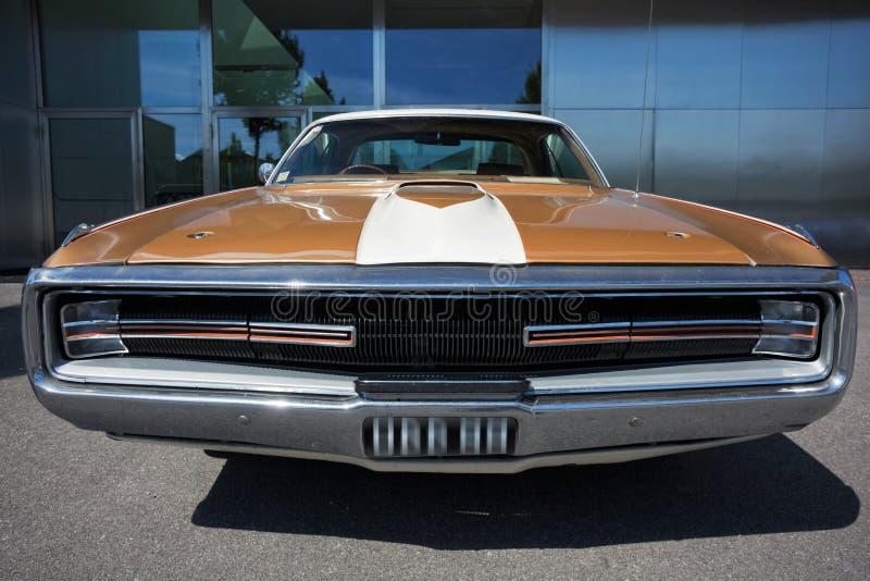 美国经典汽车,正面图 库存图片