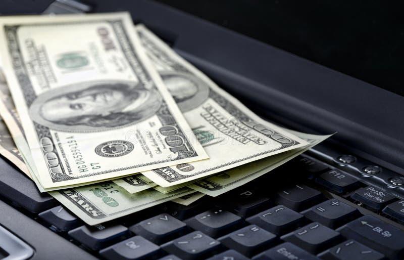 美国美元膝上型计算机 库存照片