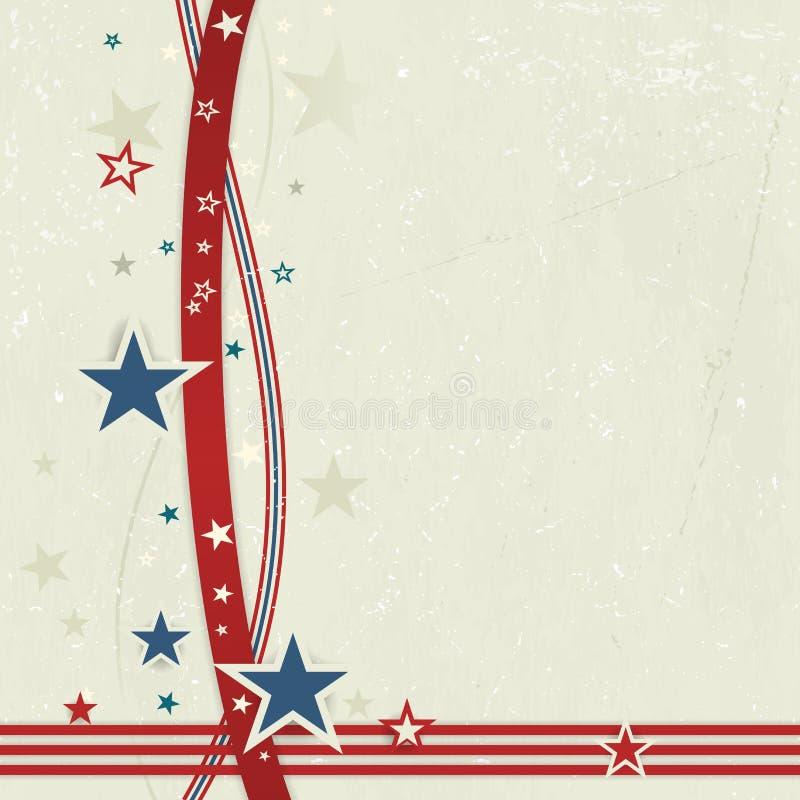 美国爱国背景在红色,蓝色和白色。 向量例证