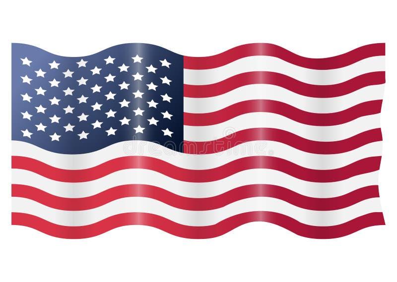 美国美国沙文主义情绪 在空白背景查出的向量例证 库存例证
