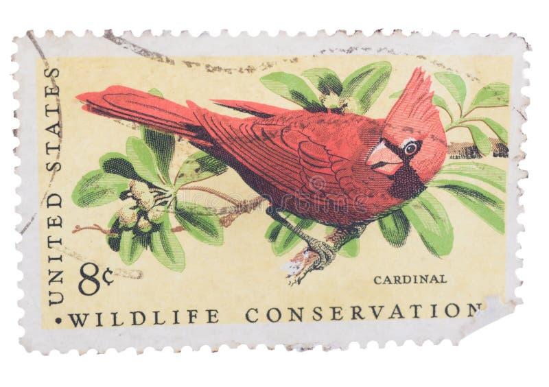 美国美国-大约1973年:在t打印的邮票 免版税图库摄影