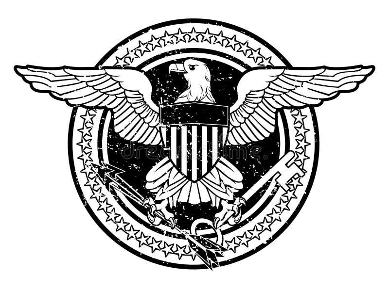 美国老鹰 库存例证