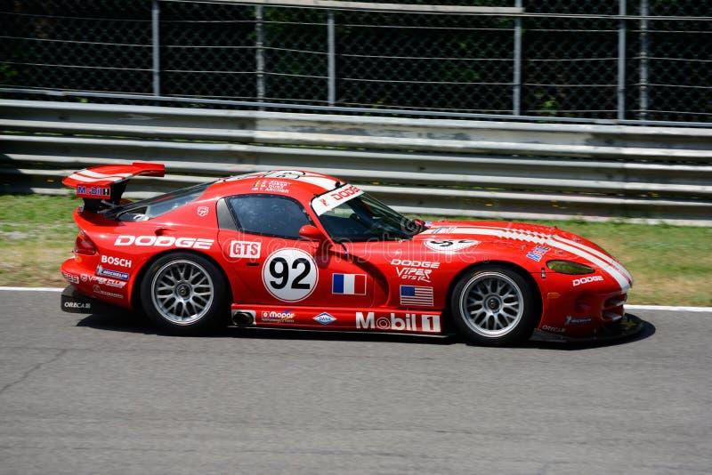 美国肌肉汽车克莱斯勒蛇蝎GTS-R 免版税库存图片