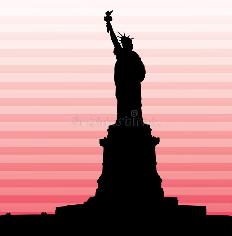 美国自由女神象 库存例证