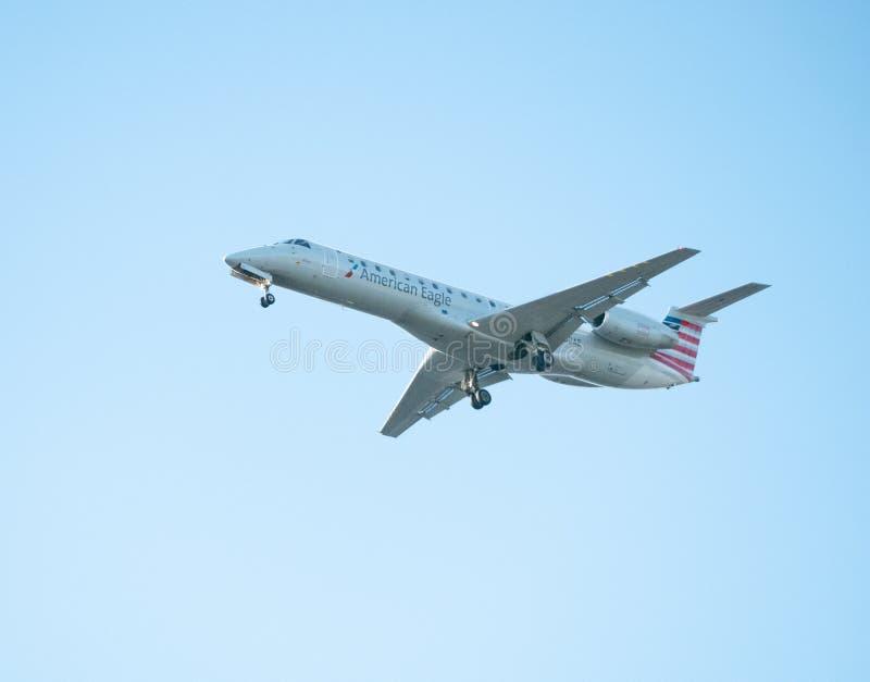 美国航空公司投炸弹者飞机 库存图片