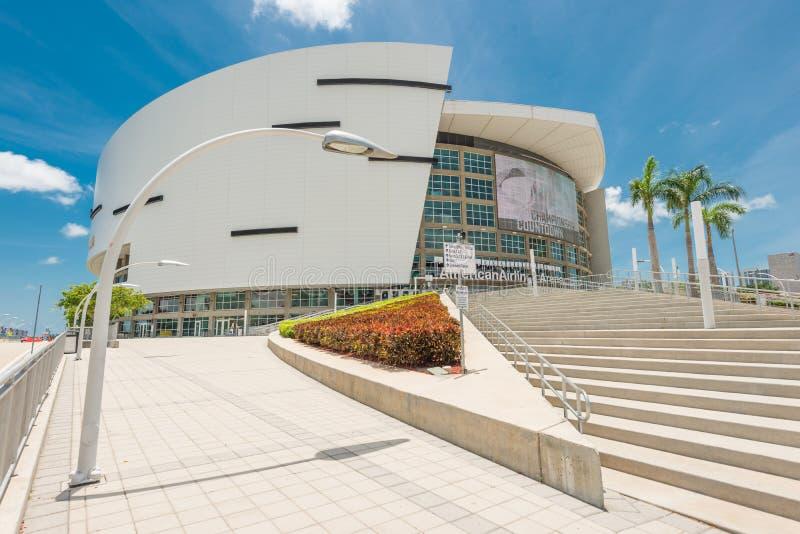 美国航空竞技场,迈阿密热浪队的家 免版税库存照片