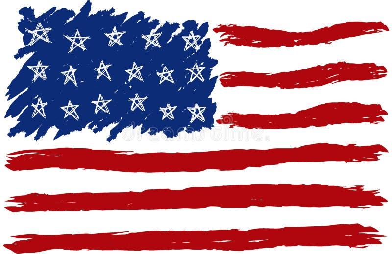 美国被画的标志现有量 库存例证
