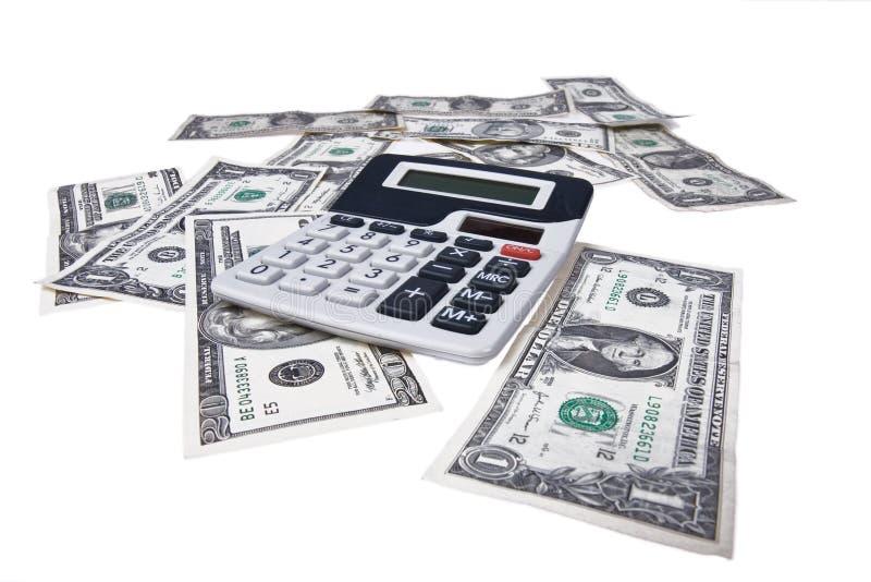 美国计算器货币 免版税图库摄影